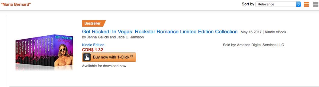 Maria Bernard, Get Rocked Amazon Bestseller