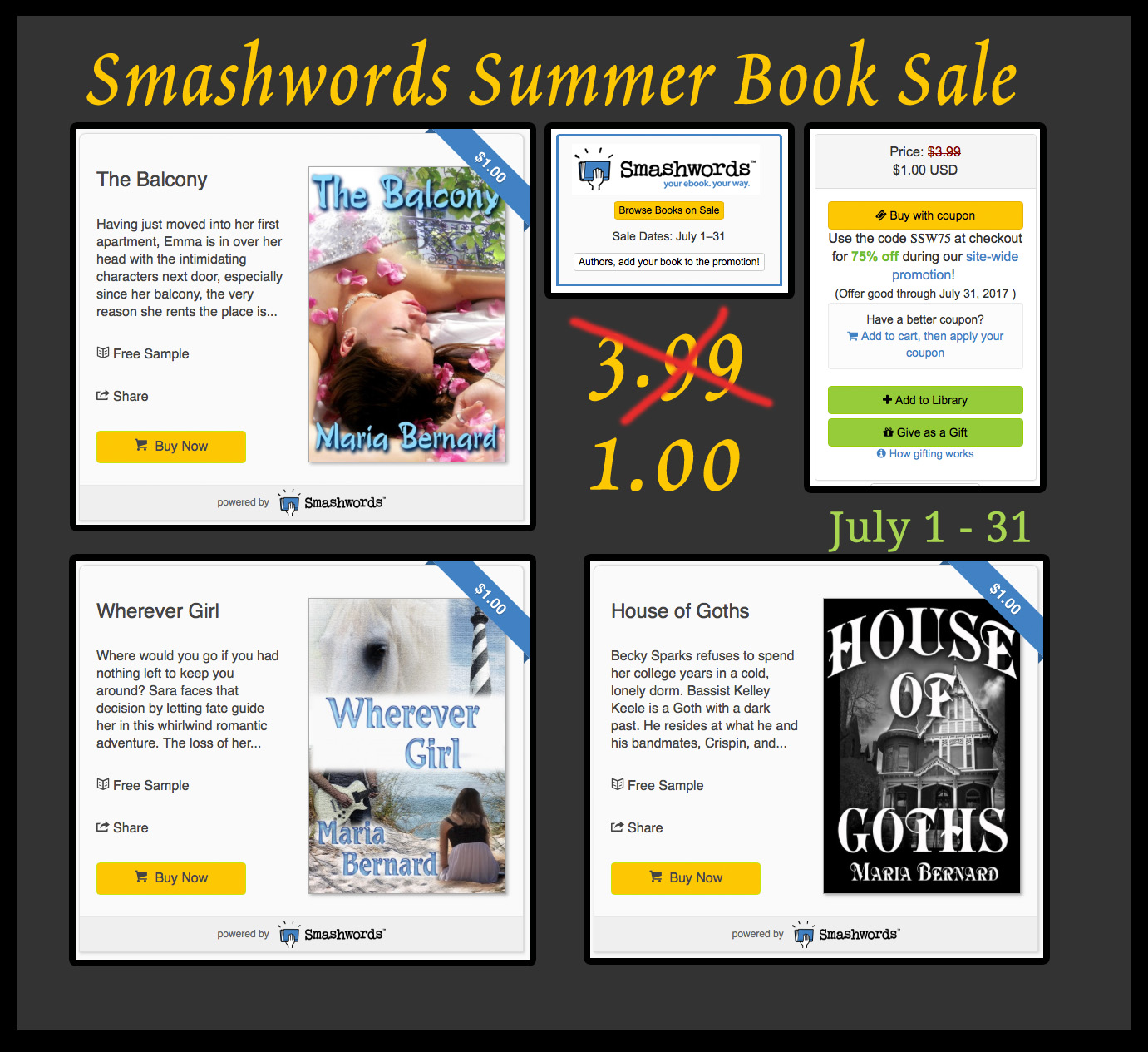 Maria Bernard Books on Smashwords